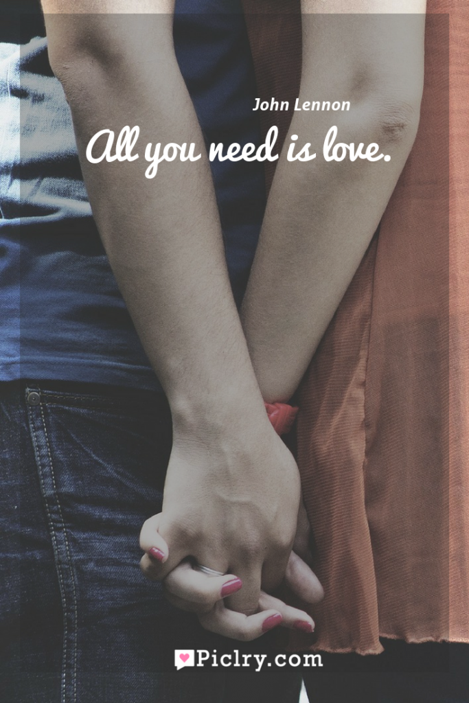 Meaning of All you need is love. - John Lennon quote photo - full hd4k quote wallpaper - Wall art and poster