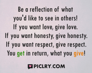 Be a reflection of what quote photos