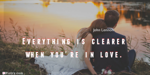 Meaning of Everything is clearer when you're in love.- John Lennon quote images - full hd 4k quote wallpaper - Download Wall art and poster