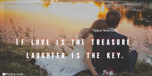 Meaning of If love is the treasure, laughter is the key.- Yakov Smirnoff quote images - full hd 4k quote wallpaper - Download Wall art and poster