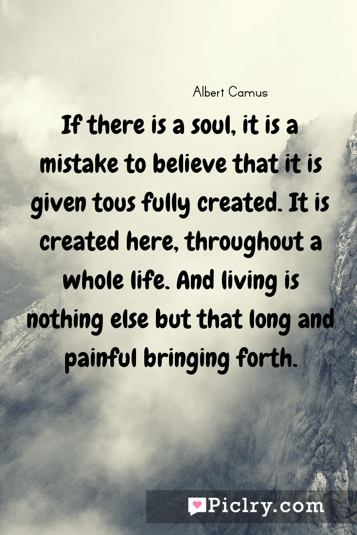 Meaning of If there is a soul