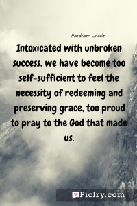Meaning of Intoxicated with unbroken success