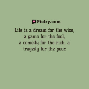 Life is a dream for the wise Sholom Aleichem quote photo