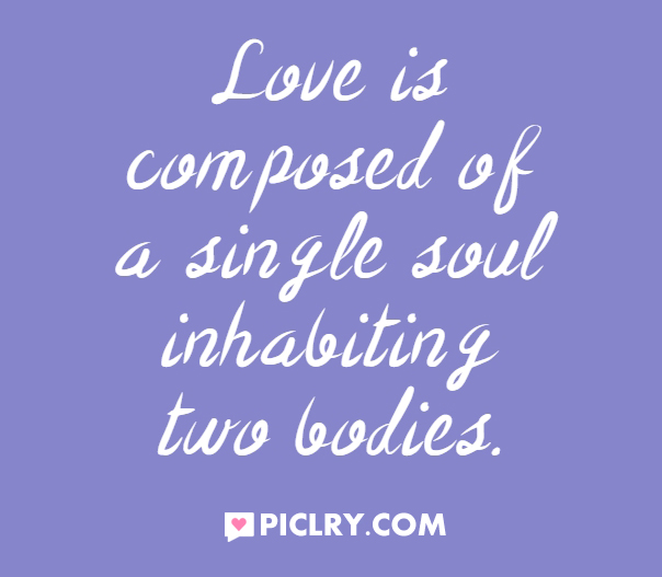 Love is composed of a single soul