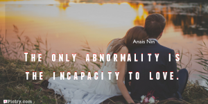 Meaning of The only abnormality is the incapacity to love.- Anais Nin quote images - full hd 4k quote wallpaper - Download Wall art and poster