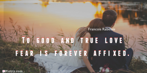Meaning of To good and true love fear is forever affixed.- Francois Rabelais quote images - full hd 4k quote wallpaper - Download Wall art and poster