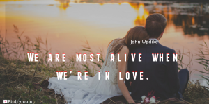 Meaning of We are most alive when we're in love.- John Updike quote images - full hd 4k quote wallpaper - Download Wall art and poster