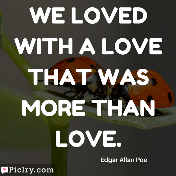 We loved with a love that was more than love HD Quote wallpaper and photos