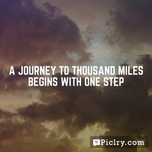 A journey to Thousand miles begins with one step