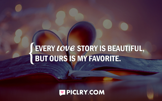 every love story is beautiful quote picture