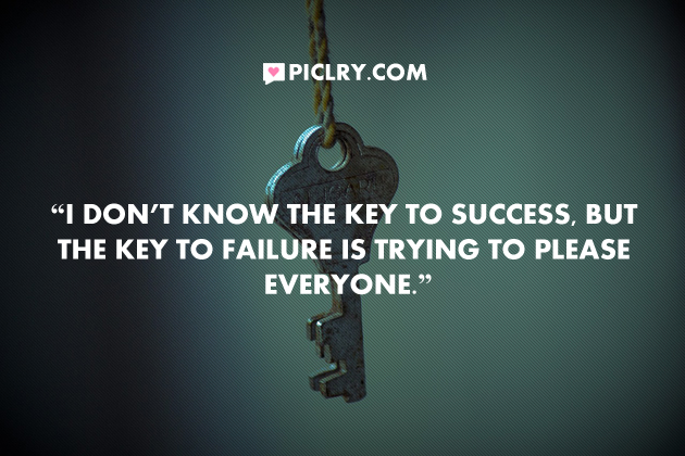 key to sucess bill cosby quote