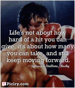 life is not about how hard of a hit you can give