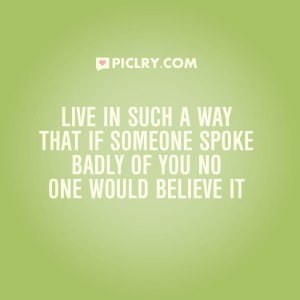 live in such way quote