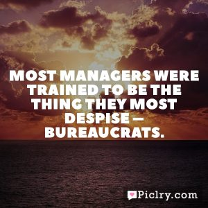 Most managers were trained to be the thing they most despise – bureaucrats.