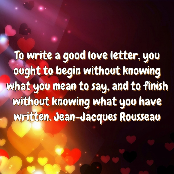 how to write a good love letter