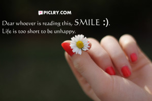 Dear whoever reading smile